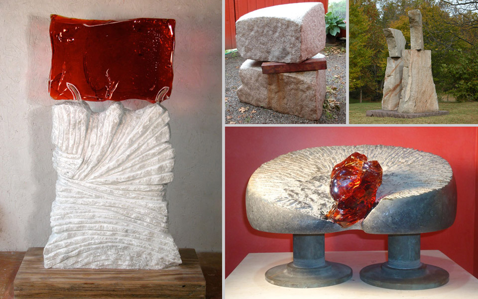 four sculptures by Antoinette Prien Schultze